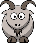 cartoon,goat,colour,animal,mammal,gray