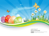 background,banner,blue,butterfly,cloud,easter,egg,floral,flower,grass,green,greeting,happy,holiday,illustration,landscape,leaf,nature,season,sky,swirl,template,wind