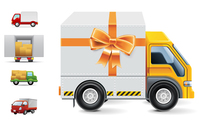 car,delivery,element,finance,gift,package,sale,shopping,transportation,truck,vector icon