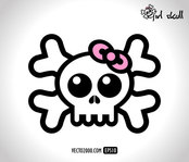 art,girl,pink,skull,vector icon