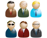people,tie,vector icon