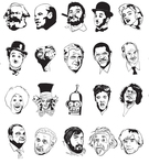 face,sketch,polititians,celebrity,head,famous people,sketchy face