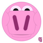 pig,pink,cartoon,character,face,animal