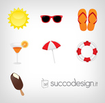 summer,sun,sunglasses,beach umbrella,ice cream,drink,flip flop,lifebuoy,icon