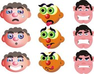 funny face cartoon set