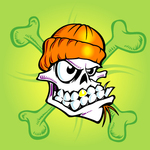 skull,bone,beanie,skate,surf,cartoon