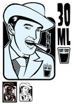 face,icon,man,drink,people,person,poster,print,retro,vintage