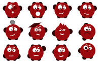 sachi,red,cartoon,character,emoticon,icon