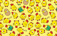 seamless,pattern,chicks.chicken,yellow,background