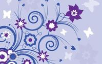 background,flower,floral,swirl,violet,summer,backdrop,object,element
