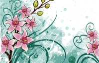 background,crunge,floral,flower,lily,graphic,hand,painted
