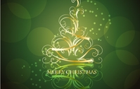 christmas,tree,abstract,golden,lin,swirling,vine,shape,blackish,green,background,illustration,creative,card,greeting