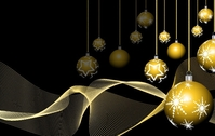 golden,ball,christmas,decoration,wave,lin,abstract,illustration,background,star,string,snowflake