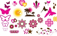 butterfly,arrow,clover,star,circle,coconut,butterly,love,patern