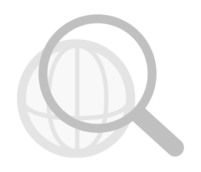 web,search,magnifier,globe,icon,grayscale