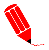 pencil,stylized,red