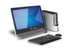 computer,hardware,keyboard,mouse,cpu,monitor,device,office,modern,photorealistic