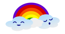 cloud,rainbow,weather,cute,kawaii,cloud