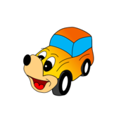 comic,car,yellow,face,taxi,funny