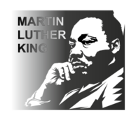 Free Download Of Dr Martin Luther King Profile Silhouette Vector