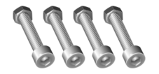 bolt,nut,tool,metal,hardware,screw,flange,spiral