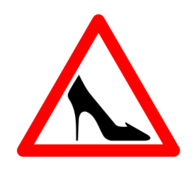shoe traffic sign,traffic sign,female,sign,shoe