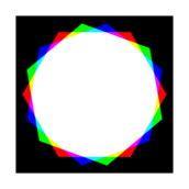 octadecagon,rgb,mix,red,green,blue,cyan,magenta,yellow