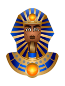 sphinx,culture,history,face,bust,gold,blue,icon