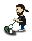 funny,people,character,comic,cartoon,human,guy,reel mower,push mower,push reel mower,media,clip art,public domain,image,png,svg