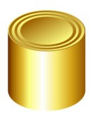 gold,can,metal,cylinder