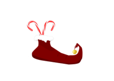 elves,elf,elf boot,boot,christmas,merry christmas,jesus christ is lord,red,candy can,jingle bell,bell