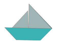 boat,sailboat,origami,paper,fold,folding