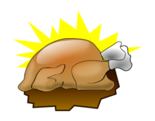thanksgiving2010,icon,3d,turkey,food,clip art,inky2010,inkscape,free,3d