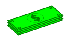 dollar,money,euro,cost,currency,green,drawing,price,four,4,dollar,clip art,media,how i did it,inkscape