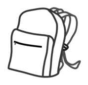 school,bag,school bag,sac,backpack,outline,line art,école,lycée,rentrée
