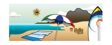 summer,summer2010,beach,towel,pail,shovel,castle,sea,sun,glasses,sunglasses,cloud,island,umbrella,recreation,vacation,season,2010,cloud