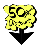 50%discount,discount,label,cartoon,down,on sale,50%discount,discount,label,cartoon,down