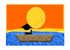 unchecked,man,chinese,china,sunset,boat,hunting,fish,sea,lake,sunrise,sun,sunshine,people,human,traditional,colour,far,east,asia,asiatic,media,clip art,public domain,image,png,svg,human,photorealistic,human