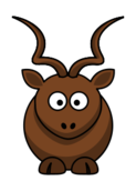 remix,colour,cartoon,animal,mammal,antelope,koudou,funny,kudu,clip art,media,public domain,image,svg