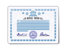 certificate,license,paper,attestation,blue,epic,win,signature,media,clip art,public domain,image,png,svg