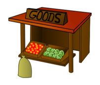 market,good,stall,fruit,veg,money,wood,vegetable,media,clip art,public domain,image,svg,good,good