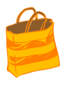 season,summer,beach,bag,shopping,tote,color,yellow,media,clip art,public domain,image,png,svg