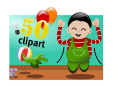 Celebration kid child happy birthday party cartoon color media clip