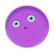 remix,cartoon,color,round,face,purple,clip art,media,public domain,image,svg