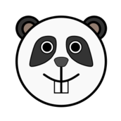 panda,animal,face,smiley,cartoon,media,clip art,public domain,image,png,svg,rounded