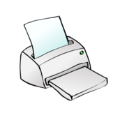 computer,hardware,device,printer,office,cartoon,media,clip art,public domain,image,png,svg