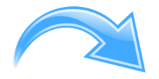 arrow,curve,curved,blue,shiny,glossy,glass,fancy
