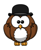 owl,cartoon,bird,funny,animal,bowler,derby,hat,chaplin