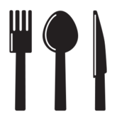 kitchen,icon,knife,spoon,fork,silhouette