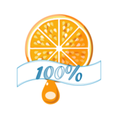 100%,orange,juice,fruit,icon,label